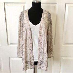 Sequin Kimono Top